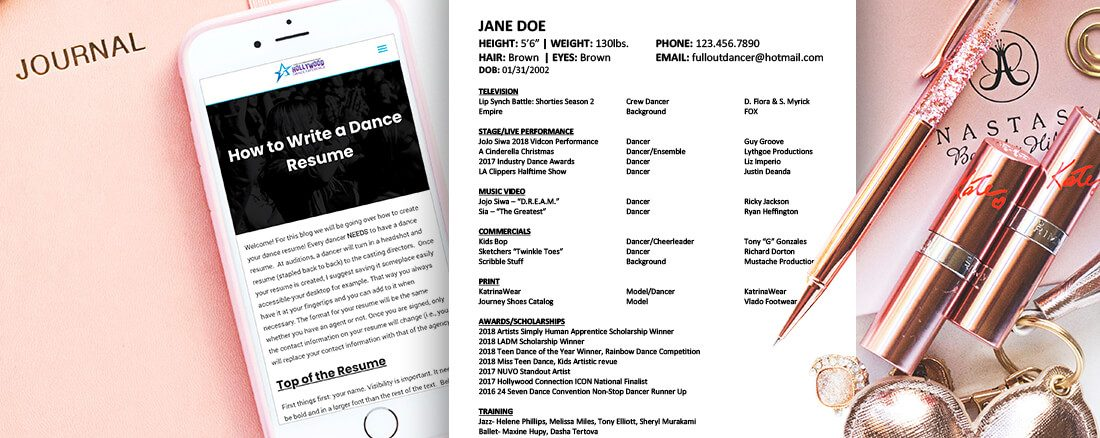 How to Write a Dance Resume – Hollywood Dance Experience