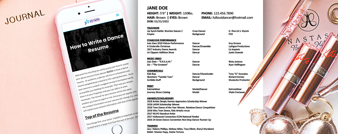 how to write a dance resume  u2013 hollywood dance experience
